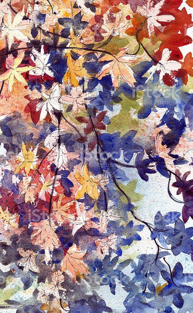 Autumns stars vector art illustration