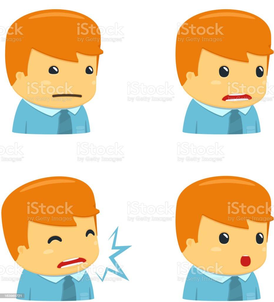 avatar cartoon manager royalty-free stock vector art