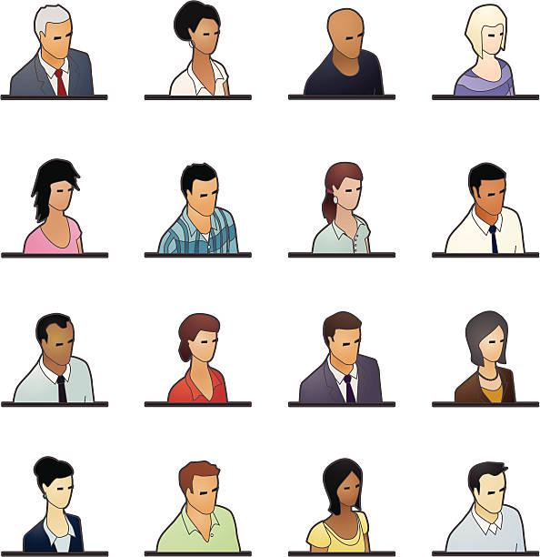 avatar icons: business people - mathisworks people icons stock illustrations, clip art, cartoons, & icons