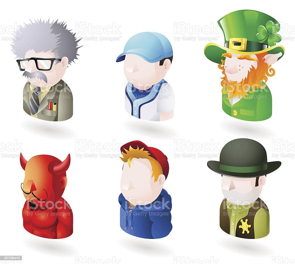 web icon-set mit avatar Personen Lizenzfreies web iconset mit avatar personen stock vektor art und mehr bilder von ausbilder