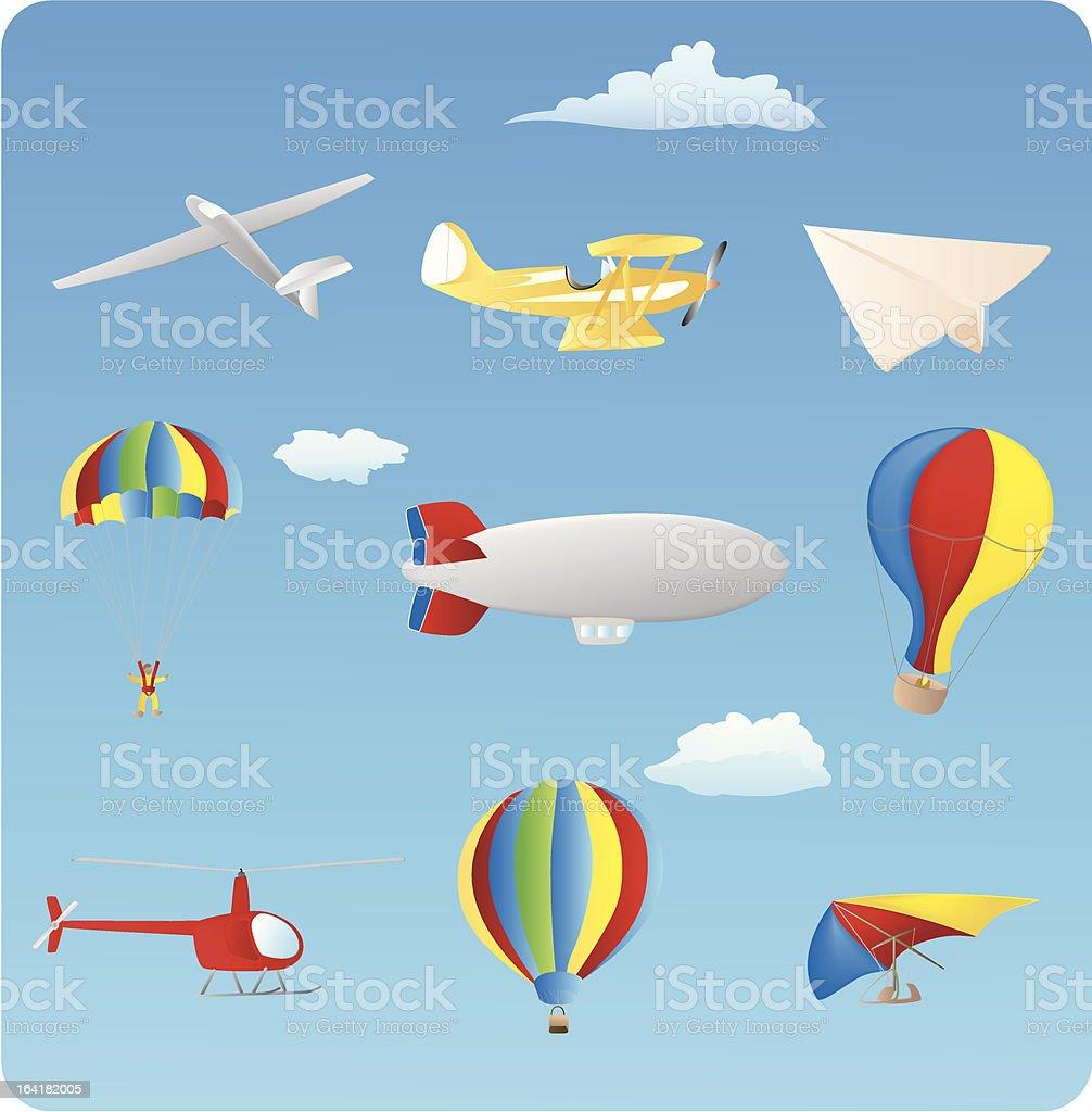 Aviation vector art illustration