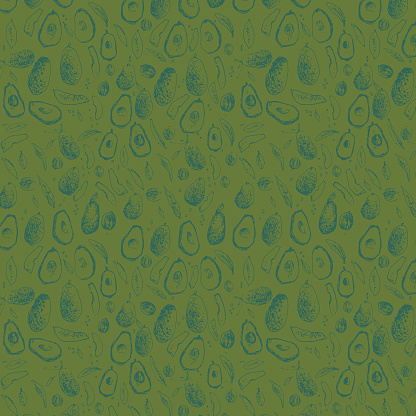 Avocado Pattern - Green and Teal