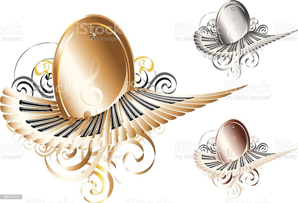 Award Emblem: Set of Three royalty-free stock vector art