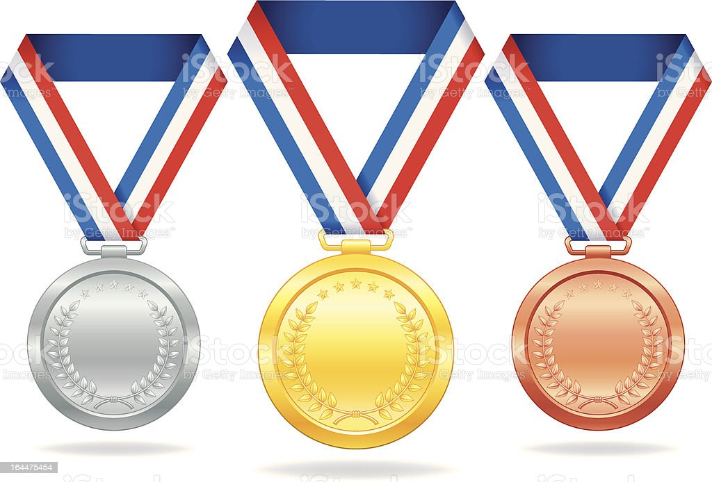 award medal vector art illustration