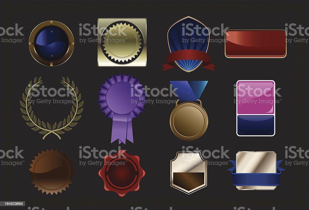 Awards selection royalty-free stock vector art