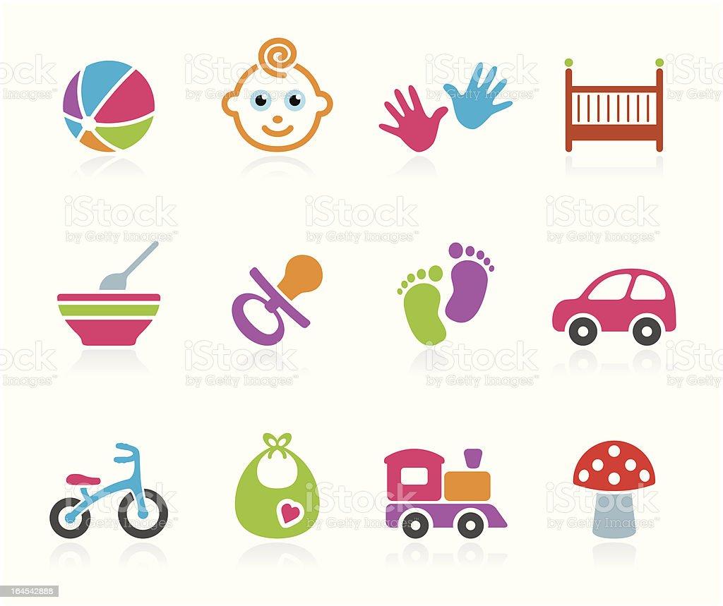Babies icon - Boys vector art illustration