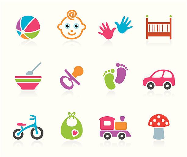 ilustrações de stock, clip art, desenhos animados e ícones de ícone de bebés meninos - feet hand
