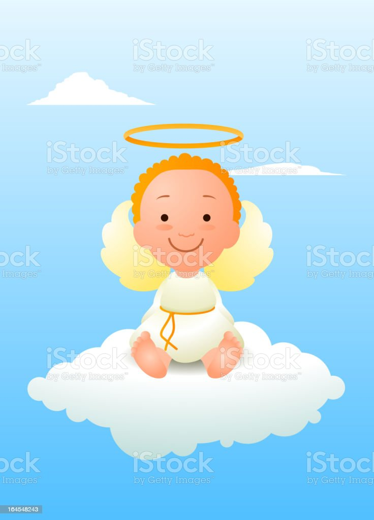 Baby angel vector art illustration