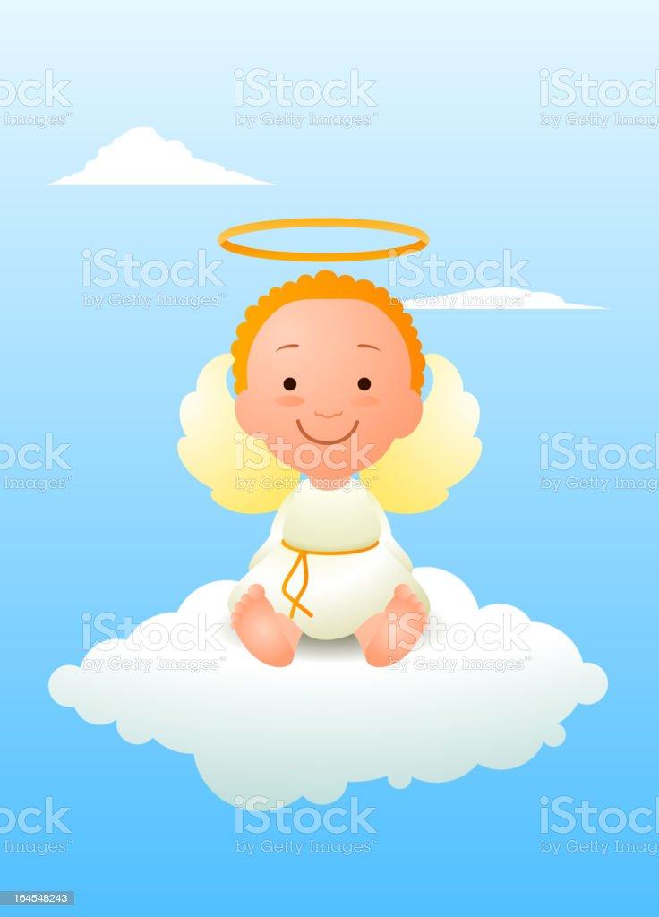Ángel bebé - ilustración de arte vectorial