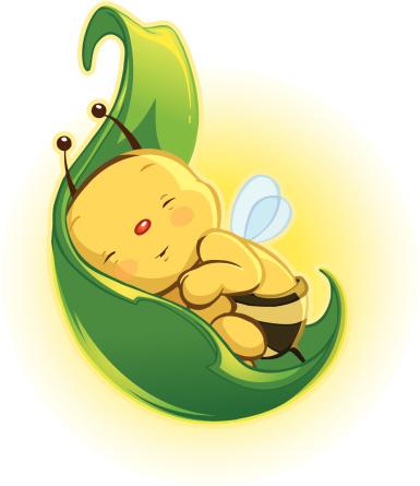 Baby Bee 1 (jpg & vector)