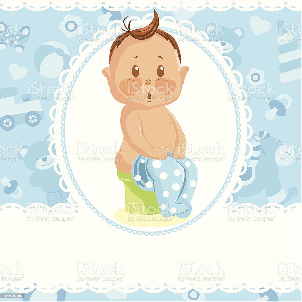 Baby boy royalty-free stock vector art