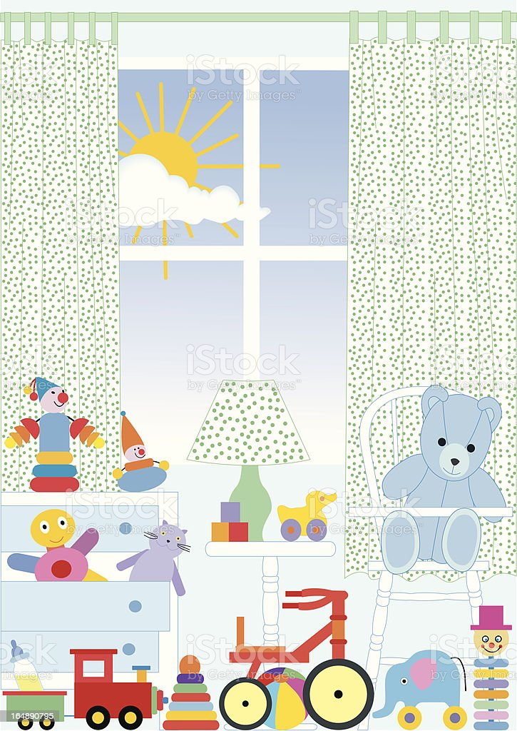 Baby Boy room royalty-free stock vector art