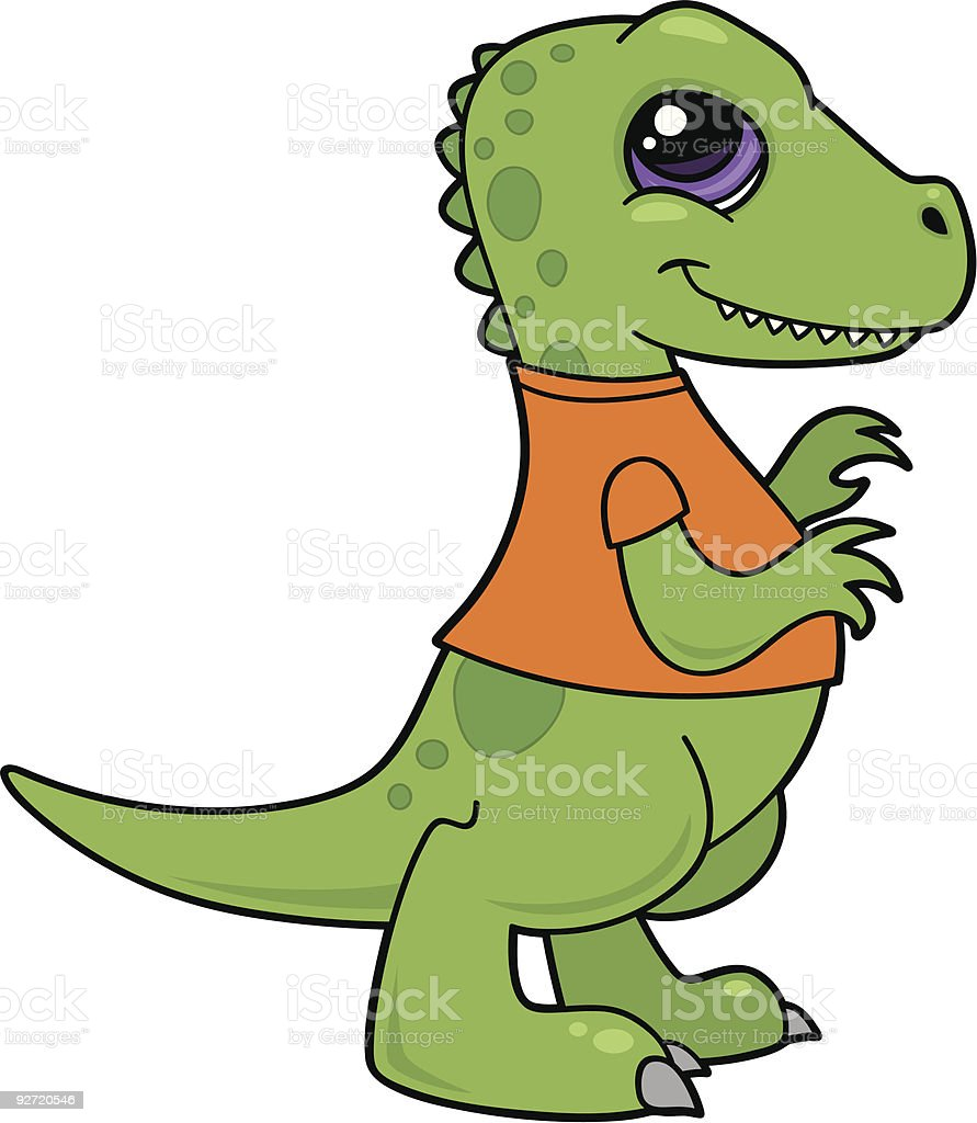 Baby Dinosaur vector art illustration