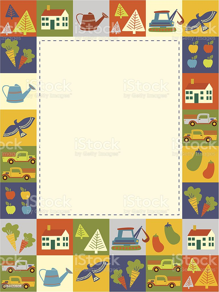 Baby frame or invitation royalty-free stock vector art