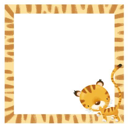 Baby frame tiger
