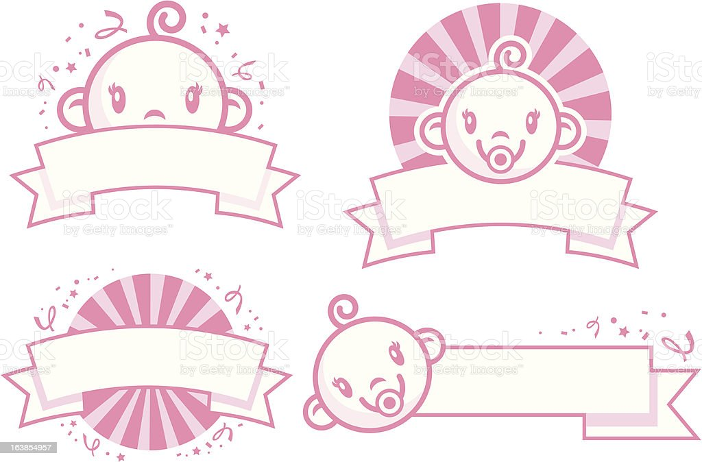 baby girl banners stock vector art more images of babies only