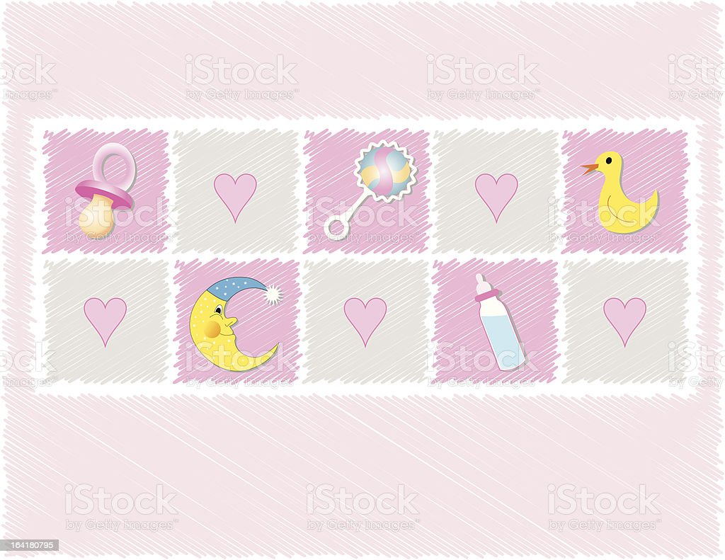 Baby girl toys royalty-free stock vector art