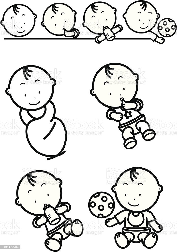 Baby is growing royalty-free stock vector art