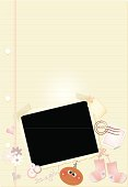 Baby Journal Page (dark-skinned girl)