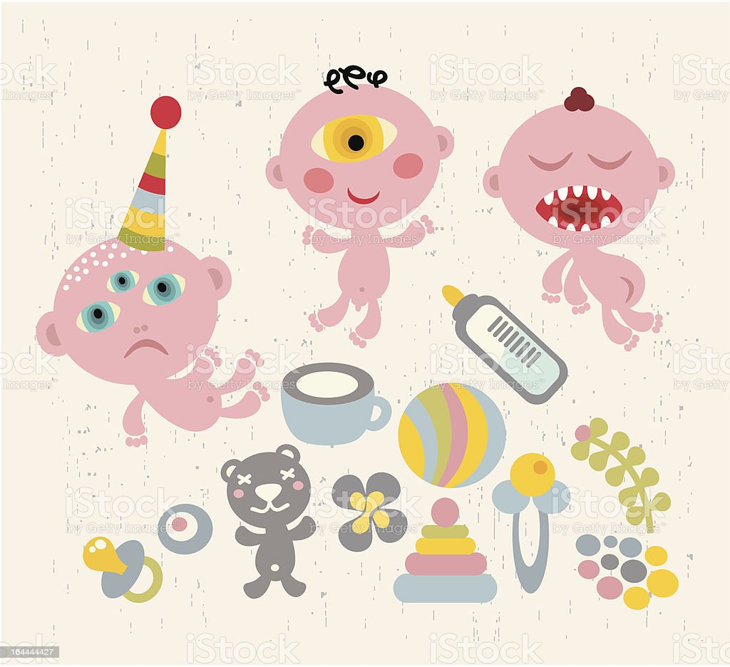 Baby - monsters in cartoon style. royalty-free baby monsters in cartoon style stock vector art & more images of baby
