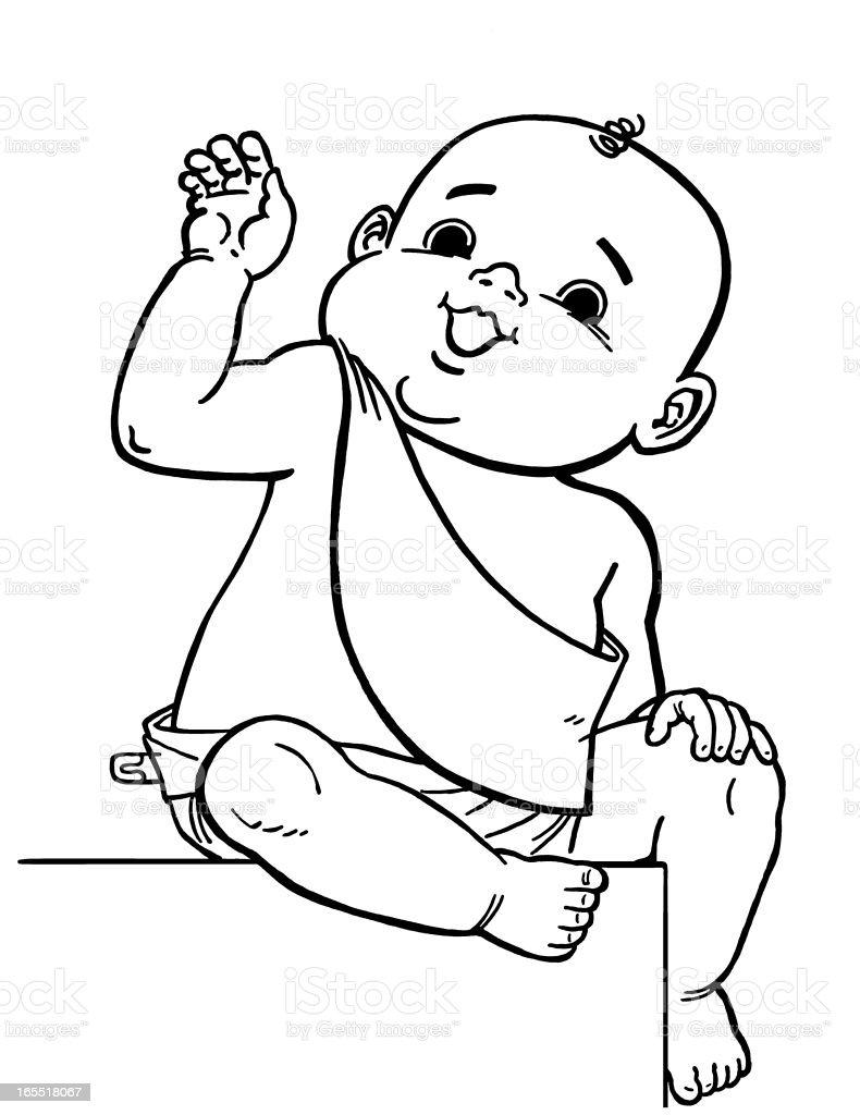 Baby New Year royalty-free stock vector art