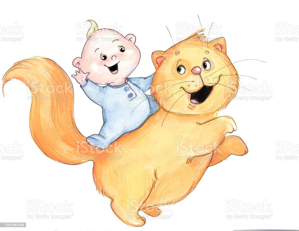 面白いオレンジ猫の赤ちゃん おもちゃのベクターアート素材や画像を多数ご用意 Istock