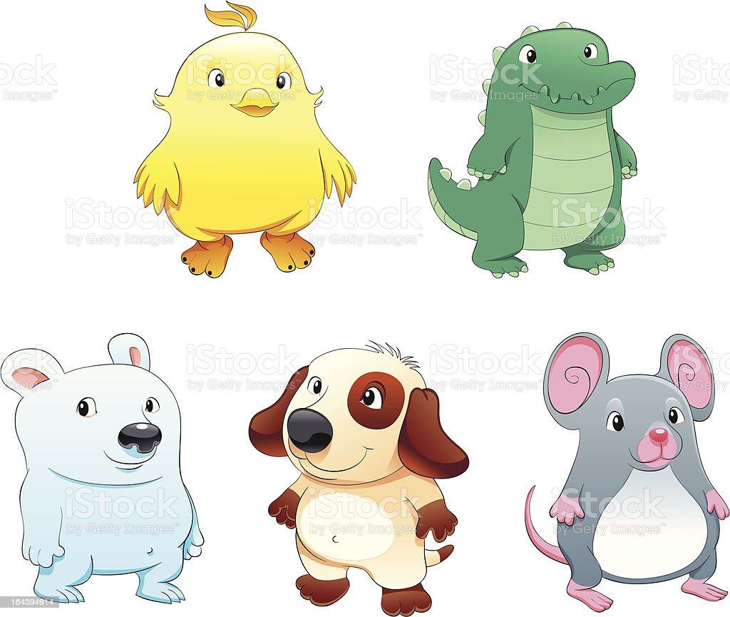 Baby Haustiere Stock Vektor Art Und Mehr Bilder Von Charakterkopf
