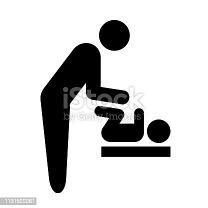 Pictogram of baby seat.