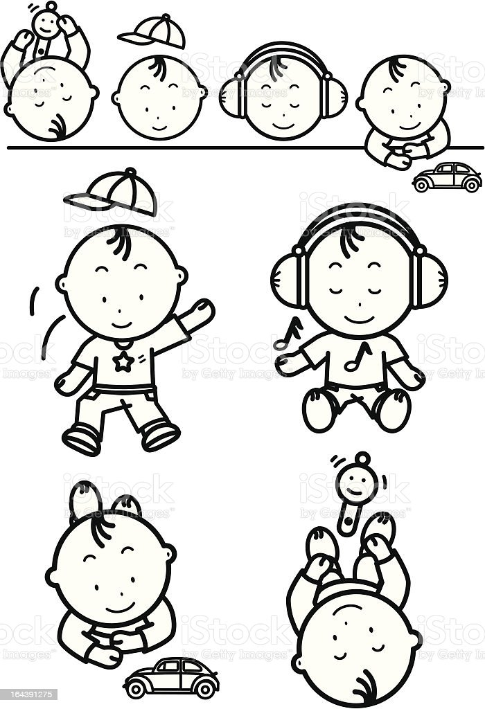Baby Set 2 royalty-free stock vector art