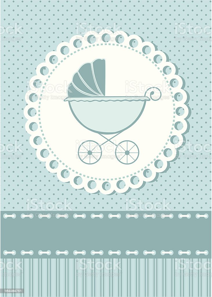 Baby Shower Invitation Card royalty-free stock vector art