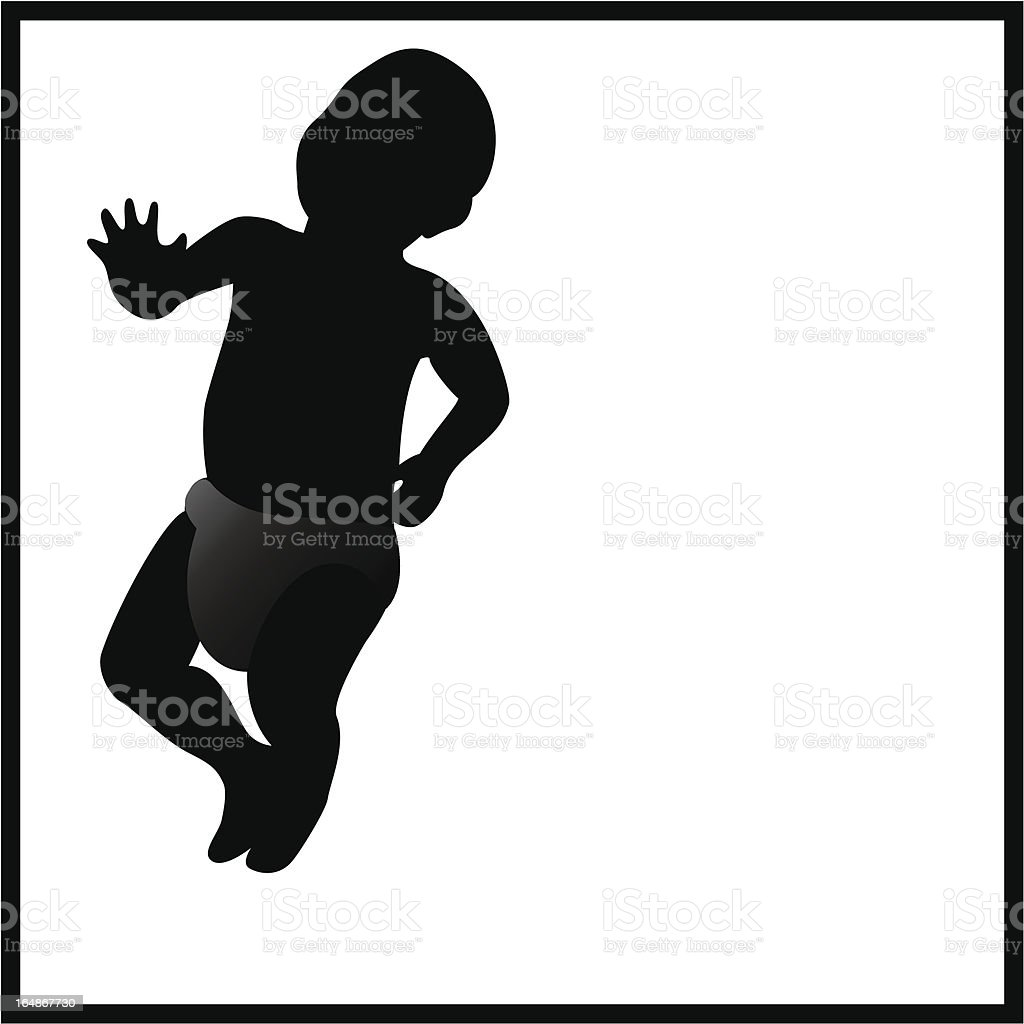 Baby Silhouette royalty-free stock vector art
