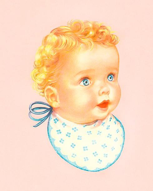 ilustraciones, imágenes clip art, dibujos animados e iconos de stock de bebé con espita - ojos azules