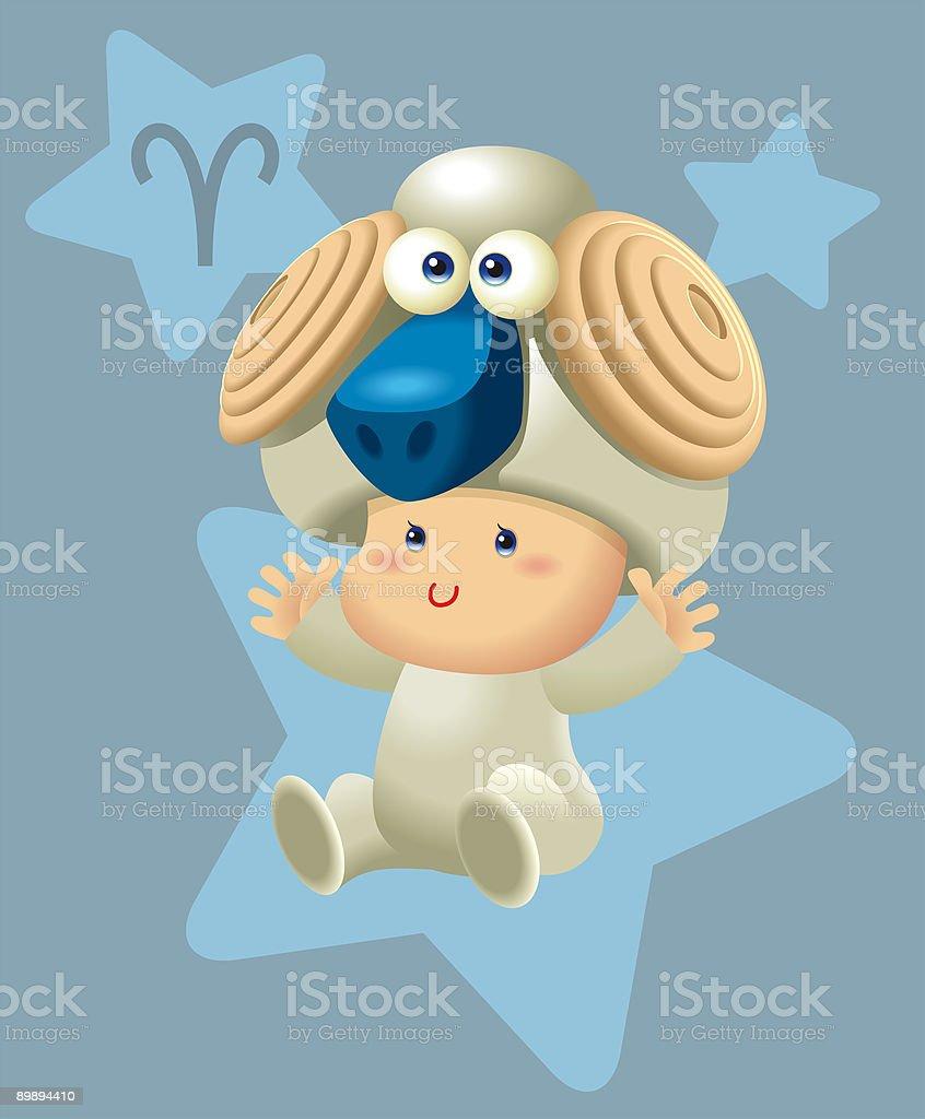 BabyHoroscope - Aries royalty-free babyhoroscope aries stok vektör sanatı & animasyon karakter'nin daha fazla görseli
