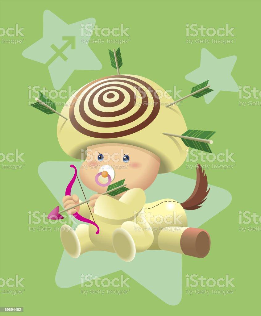 BabyHoroscope-sagitario ilustración de babyhoroscopesagitario y más banco de imágenes de adivinación libre de derechos