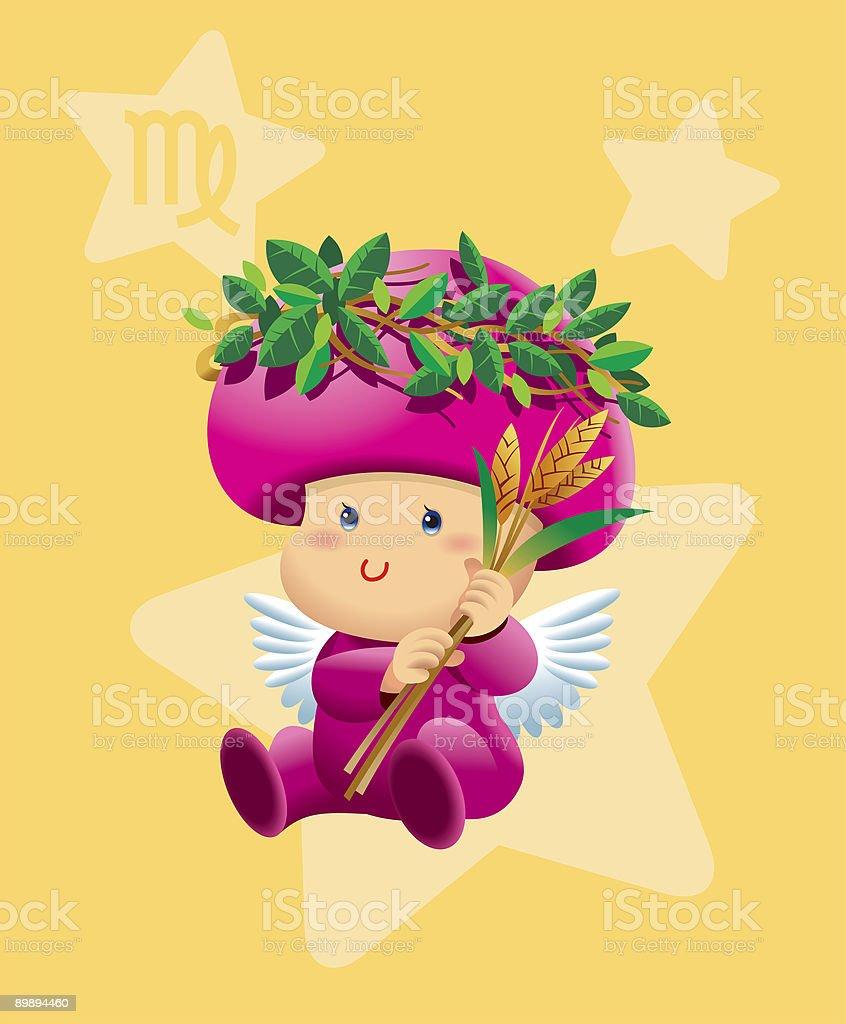BabyHoroscope - Virgo royalty-free babyhoroscope virgo stok vektör sanatı & animasyon karakter'nin daha fazla görseli
