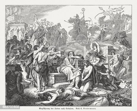 istock Babylonian Exile (597-539 BC) of the Jews, painted by Bendemann 683702856
