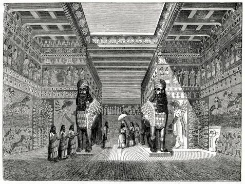 Babylonian Palace Stock Illustration - Download Image Now