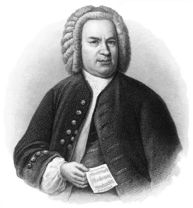 J.S. Bach - Antique Engraved Portrait