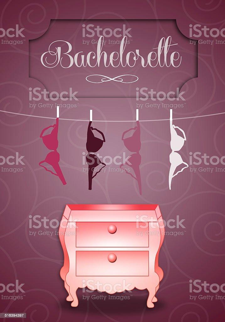 Bachelorette party vector art illustration