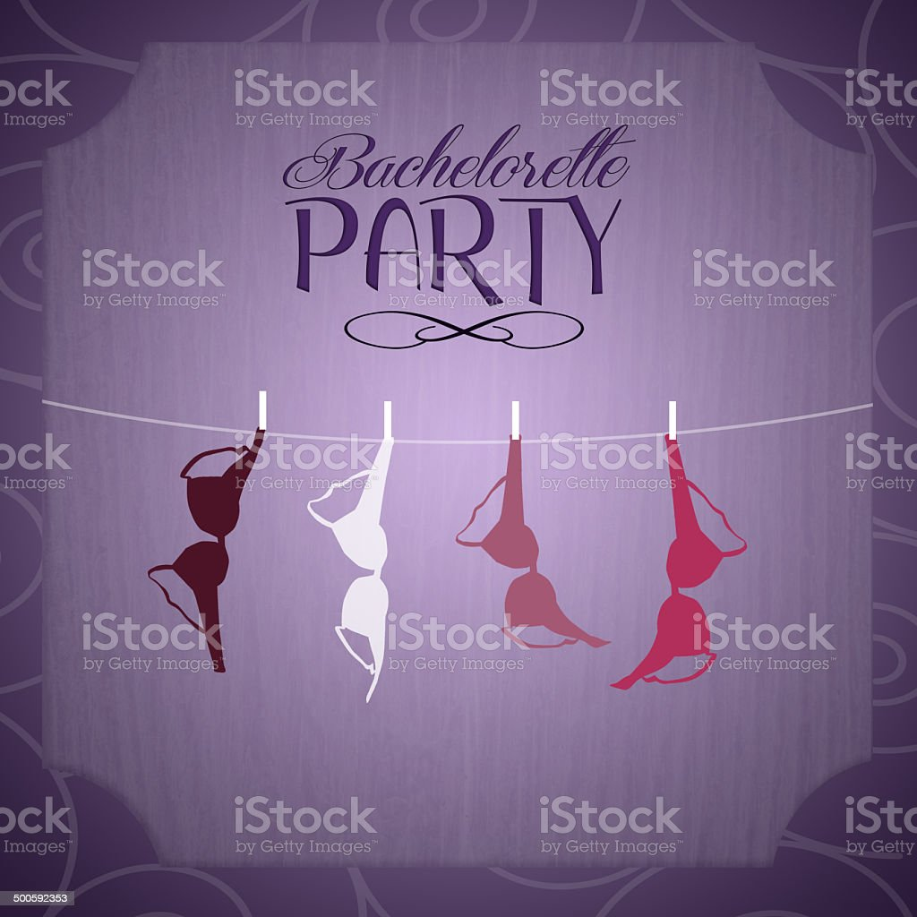 Bachelorette party invitation vector art illustration