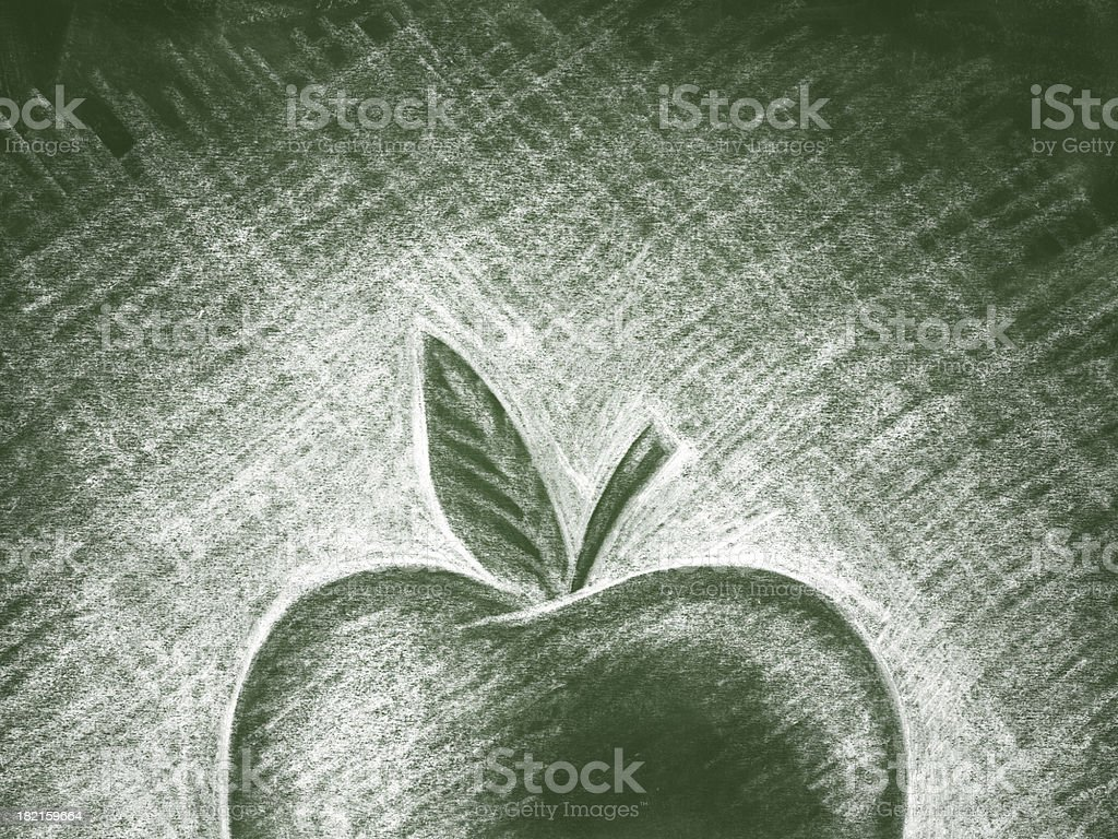 Back to School Chalkboard Illustration royalty-free stock vector art