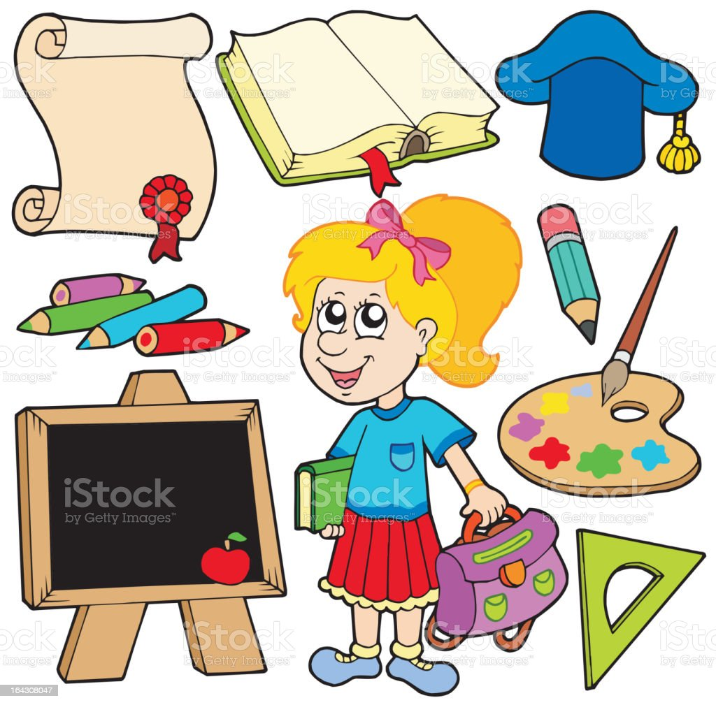 Back to school collection 2 royalty-free stock vector art