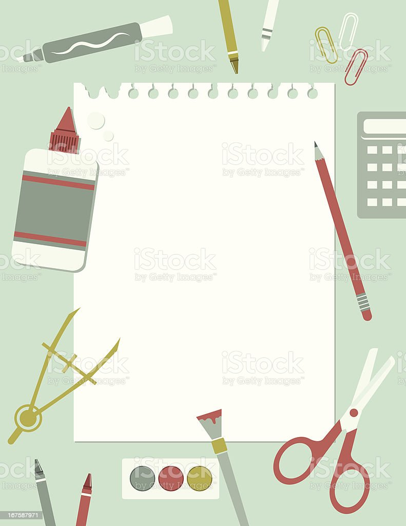 Back to School Notepaper royalty-free back to school notepaper stock vector art & more images of art