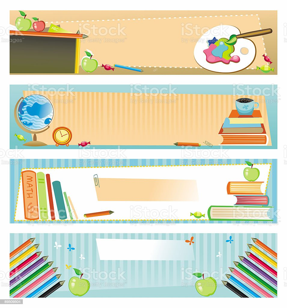 Back to school - set of banners royalty-free back to school set of banners stock vector art & more images of alphabet