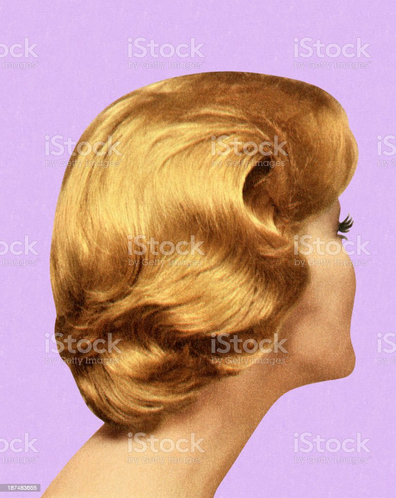 Back View of Woman's Hairstyle royalty-free stock vector art