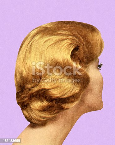 istock Back View of Woman's Hairstyle 187483655