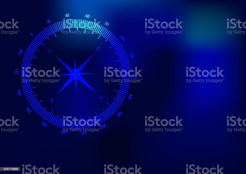 Background compass vector art illustration