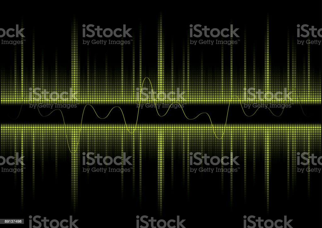 Background Design Sound Wave royalty-free stock vector art