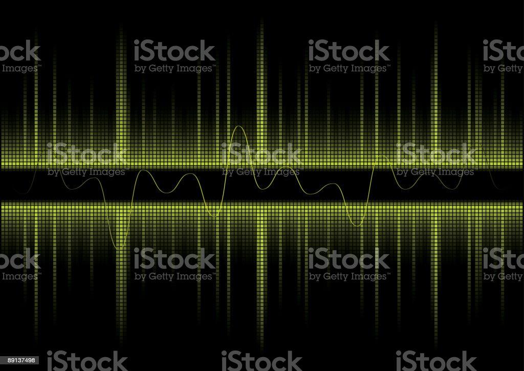 Background Design Sound Wave vector art illustration