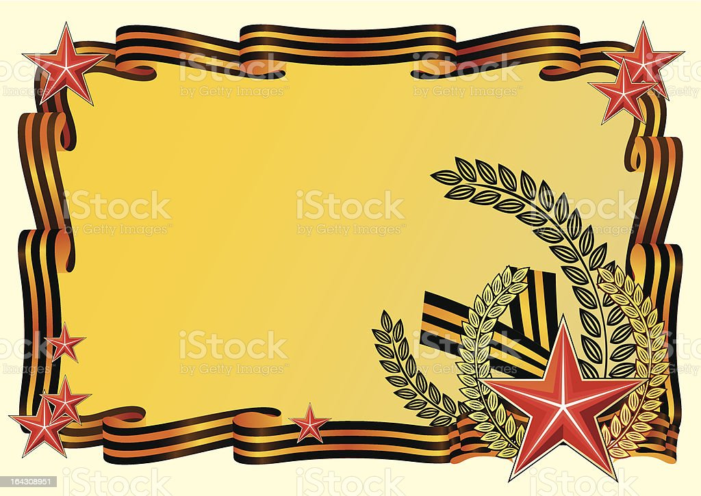 Background for day of the victory royalty-free stock vector art